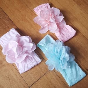 Other - 🌺 3 FLOWER INFANT HEADBANDS